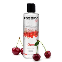 Passion Licks Water Based Flavored Lube - Cherry - 8 oz