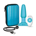 b-Vibe Silicone Vibrating Remote Controlled Multispeed Waterproof Anal Play Plug With Travel Case & USB Charger